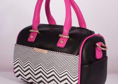 Zig-Zag Geometric Bowler Bag
