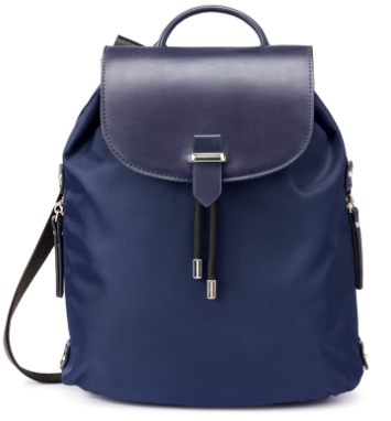 Nylon Navy Backpack
