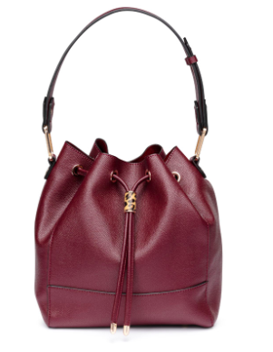 Maroon Bucket Bag