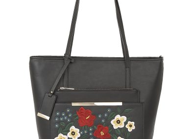 MATISSE BLACK FLORAL BAG