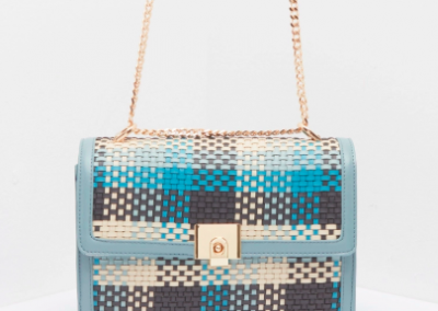 Blue Weave Cross Body