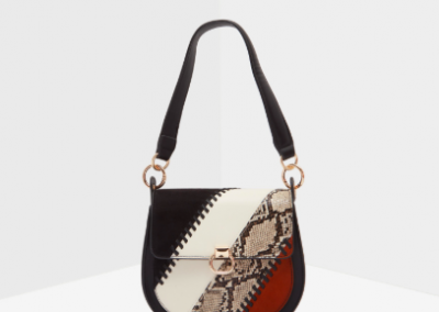 Snake Patchwork Shoulder Bag