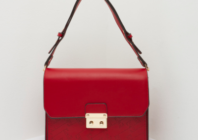 Red Lasercut Shoulder Bag
