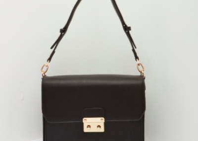 Black Lasercut Shoulder Bag