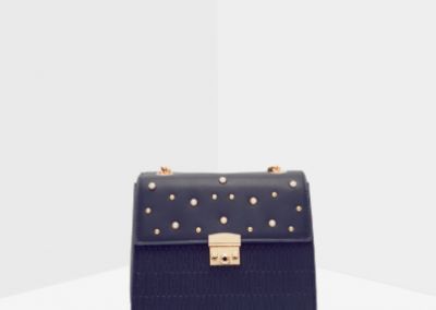 Black Embellished Satchel