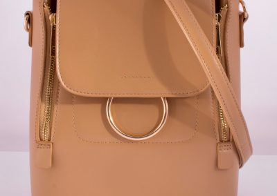 Camel Ring Detail Convertible Backpack