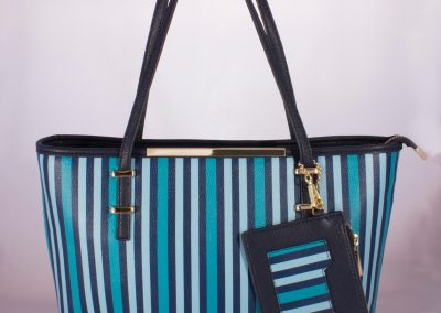 Navy/Blue Stripe Tote