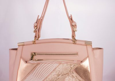 Blush/Rose Gold Patchwork Tote