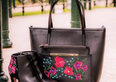 Embroidered Tote & Boot Coordination