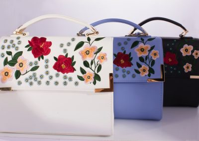Embroidered Boxy Bags