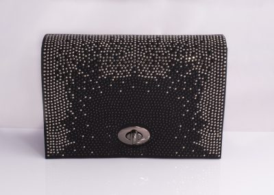 Black Graduated Crystal Boxy Bag