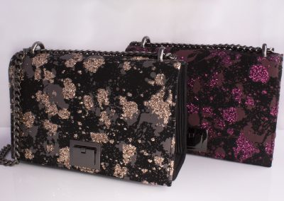 Dusted Glitter Chain Strap Boxy Bags