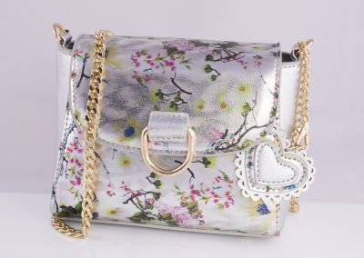 Silver Floral Mini Across Body Bag - Teen Fashion