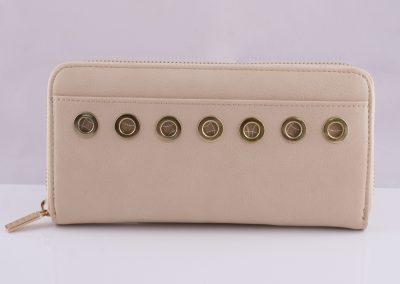 Eyelet Zip-Around Purse
