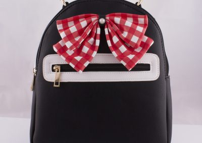 Gingham Bow Back Pack - Teen Fashion