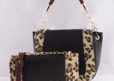 Leopard Print Boxy Across Body and Saddle Bag
