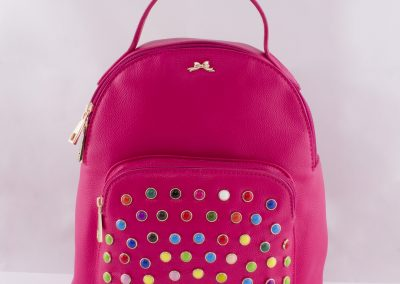 Pink Multi Stud Backpack - Teen Fashion