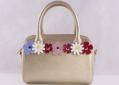 Flower 3D Stud Bowler - Teen Fashion