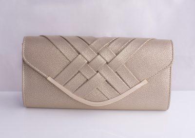 Gold Weave Detail Envelope Clutch
