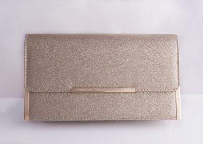 Gold Glitter Structured Clutch